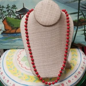 Vintage Red and gold beads necklace